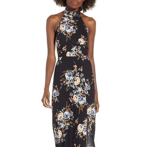 ASTR The Label Halter Maxi Floral Dress